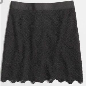 J. Crew Factory Lace Skirt Black 0